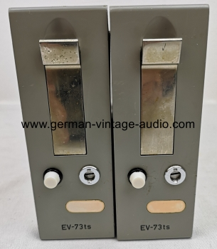 Pair of vintage amplifiers EV73ts made by Filbig KG Munich