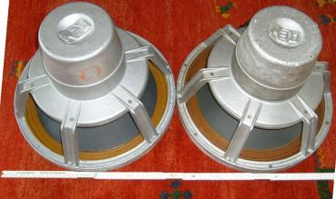 A nice pair of rare West German 15 inces WIGO / DEW Alnico speakers